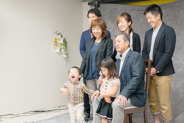 家族で撮影