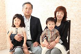 家族の撮影風景