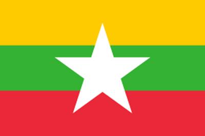 ミャンマー国旗 証明写真