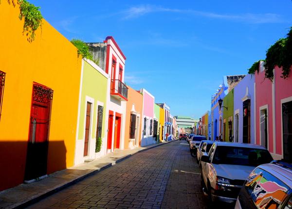 メキシコ町並み