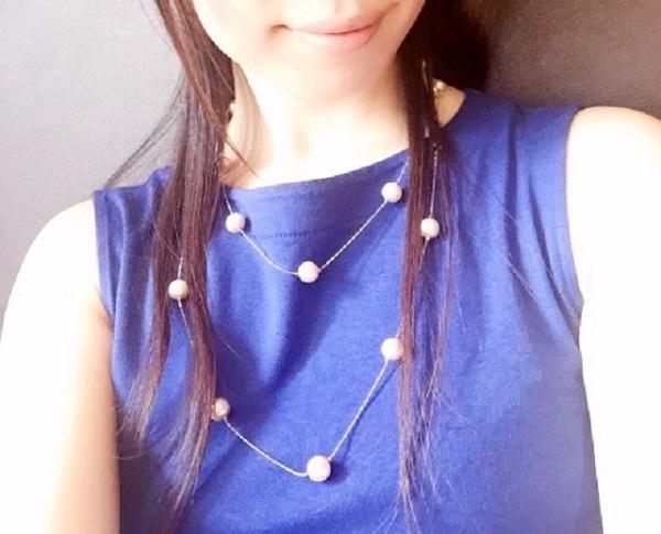 ネックレスの2重巻き