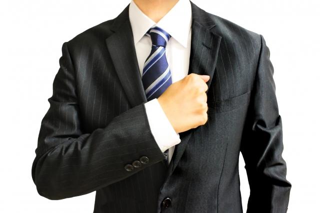 黒いスーツが基本